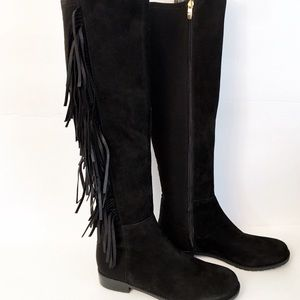 Marc Fisher Myndee fringed over knee boots size 6